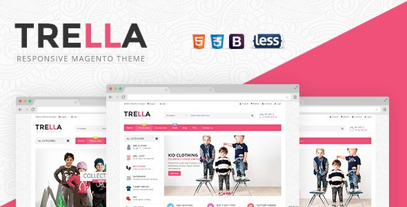 SNS Trella Fresh and Clean Design Magento Theme