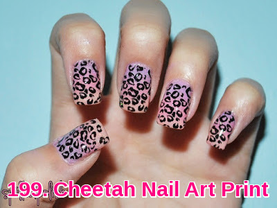 Cheetah Nail Art Print
