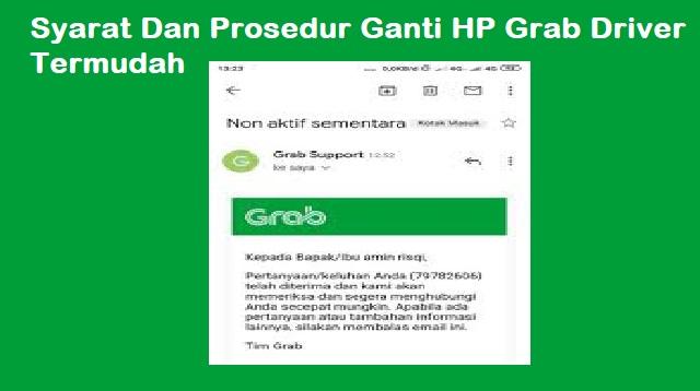 Prosedur Ganti HP Grab Driver
