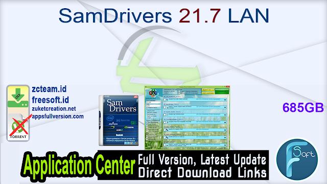 SamDrivers 21.7 LAN