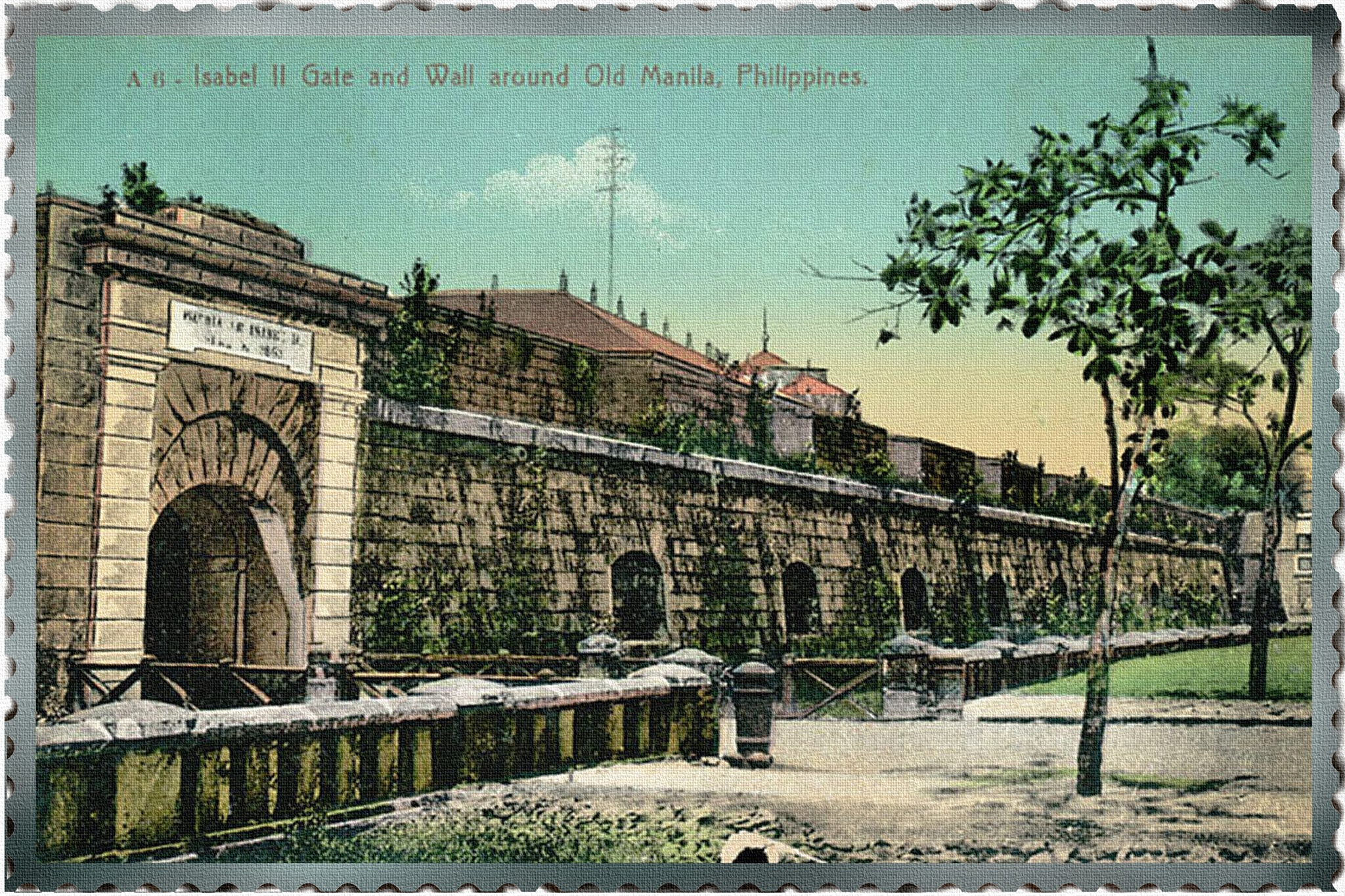 Isabel II Gate and Wall around Old Manila, Philippines