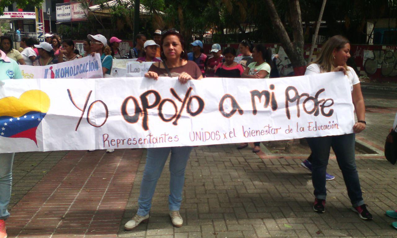 SITRAENSEÑANZA MIRANDA: PROTESTA DOCENTE FRENTE A
