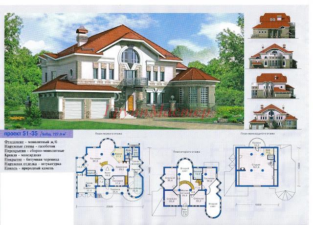 Планировки особняка