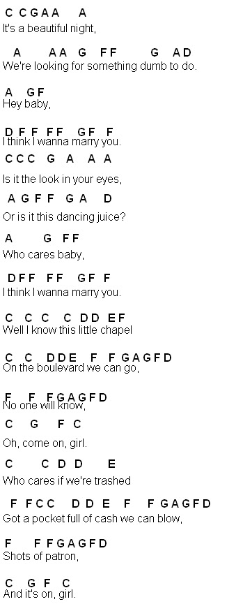 Lettered keyboard songs to learn