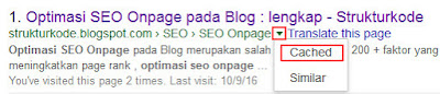 Web Cached Google Artikel blog