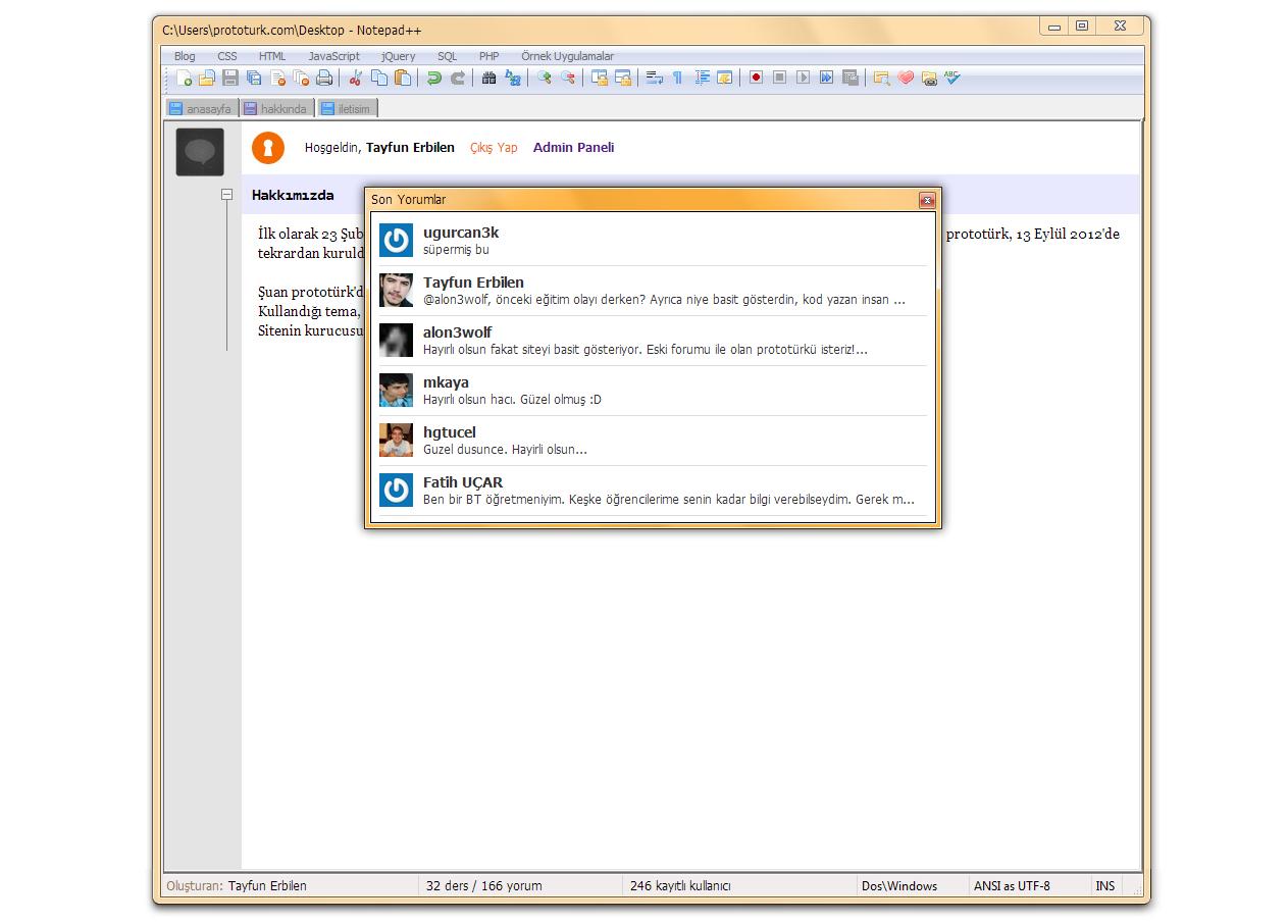 Notepad++ Teması (xHTML/CSS)