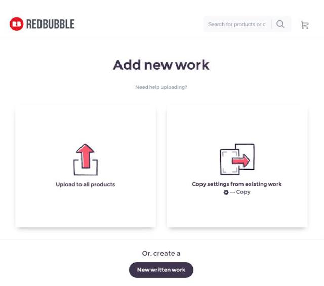 Ajouter un dessin redbubble