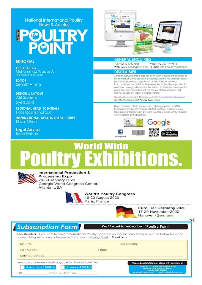 Monthly Large Scale Circulation Magazine Poultry Point