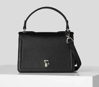 Karl Lagerfeld - Дамска структурирана кожена Чанта