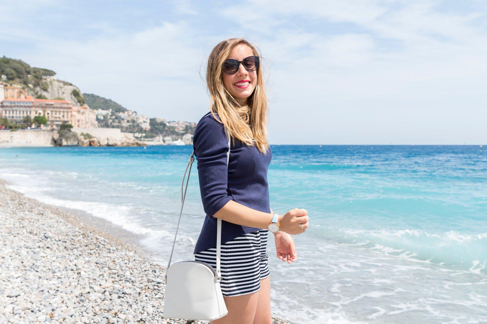 look bleu plage Nice