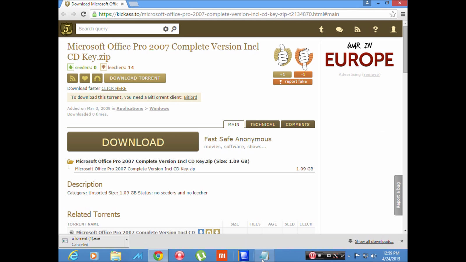 download office 2007 english