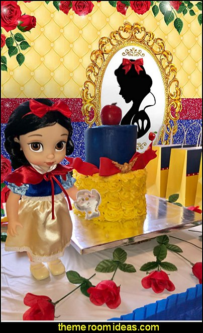 Snow White Doll table decoration snow white party backdrop snow hite party decorations