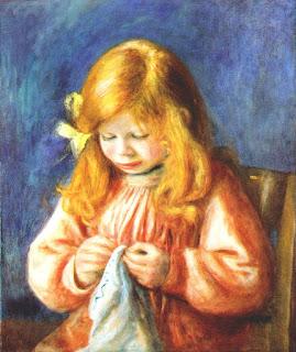 Jean Renoir enfant peint par son père