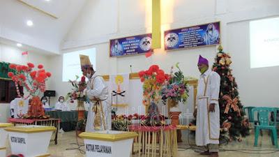 Gmim Betel Pintukota Besar Laksanakan Ibadah Syukur Tulude Dengan Kesederhanaan