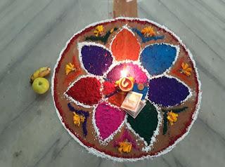 Best rangoli nepali festival tihar 2076