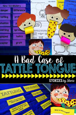When students do not know the difference between tattling and reporting, it can eat up instructional time and frustrate even the most experienced teacher. I like to spend a good chunk of time at the beginning of the year teaching and using examples to illustrate the difference. Here are some ideas for using the book, A Bad Case of Tattle Tongue in the classroom to address tattling and reporting.