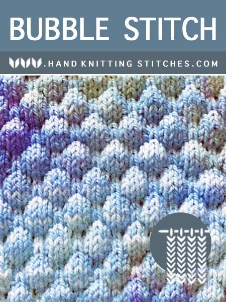 Hand #Knitting Stitches - Bubble Textured Pattern