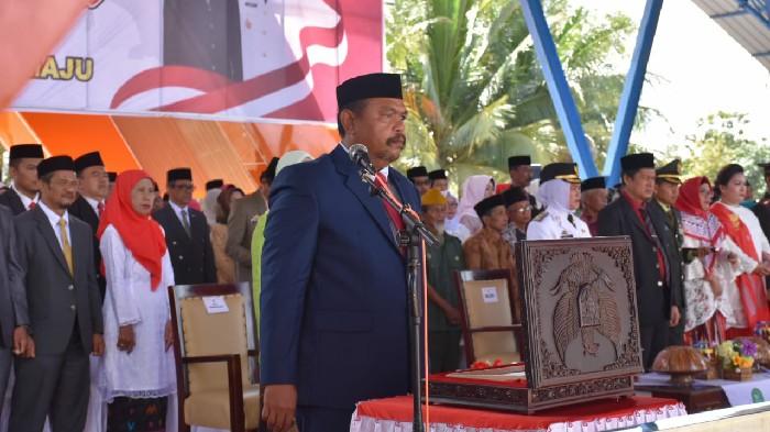 Ketua DPRD Sinjai Bacakan Teks Proklamasi Kemerdekaan