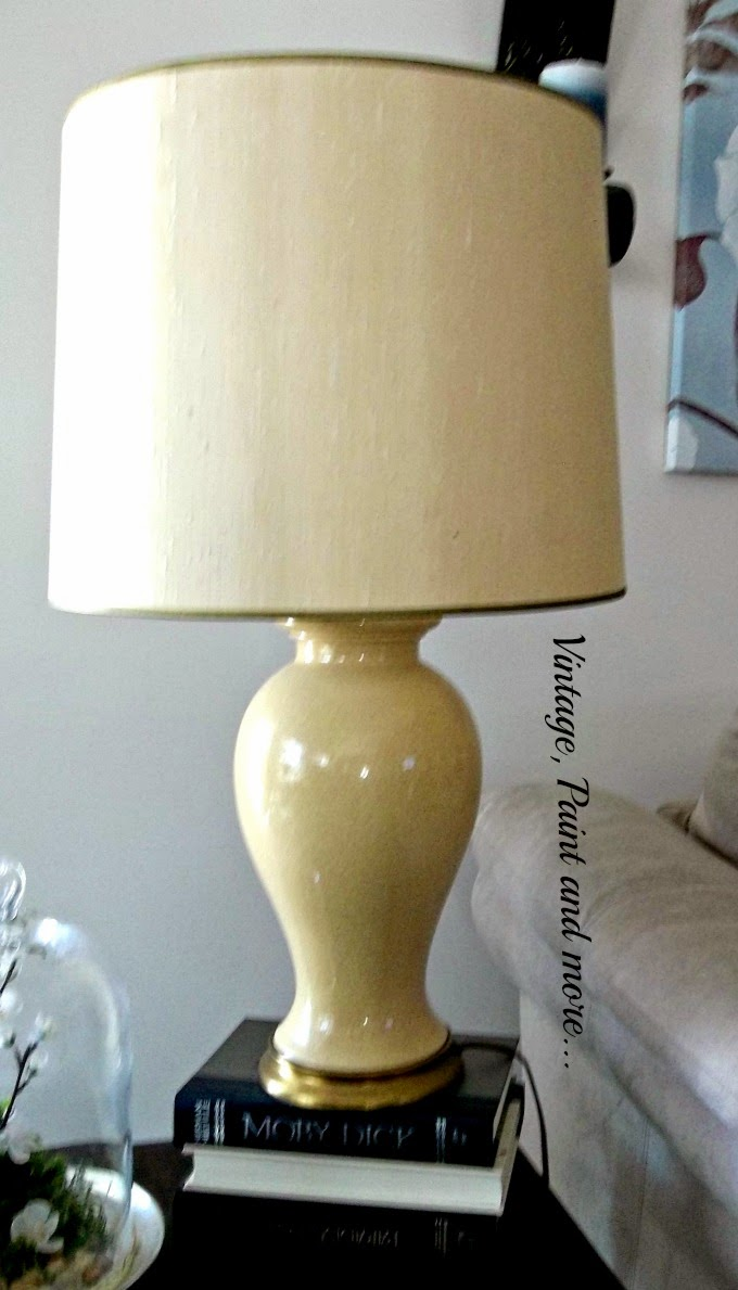 DIY Lamp Makeover - painting an old lamp, restyling an old lamp