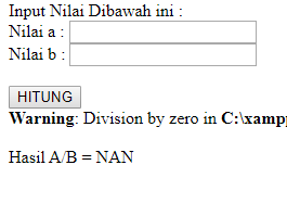 Cara Mengatasi Error Warning: Division by zero