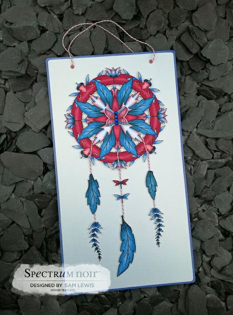 Papercrafted Dream Catcher by Sam Lewis AKA The Crippled Crafter.