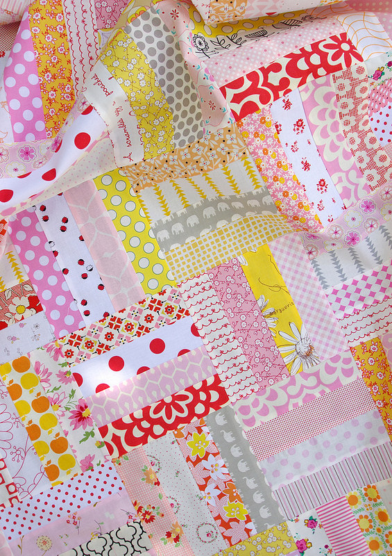 Custom Order Baby Girl Quilt | Red Pepper Quilts