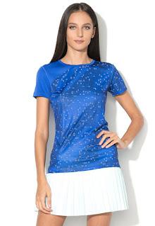 Asics - Дамска синя Тениска за бягане Lite Show