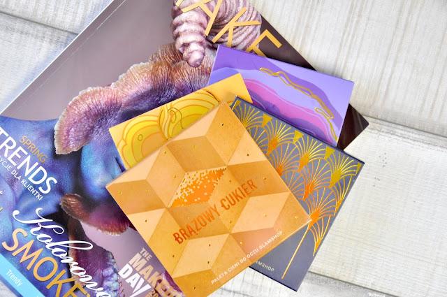 paletki cieni glamshop brązowy cukier, gorączka złota, morelova, fiolety
