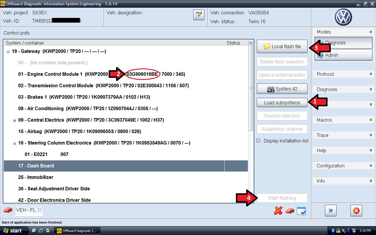 VAS 5054A ODIS V4.3.3 Bluetooth Diagnosztikai Interfész