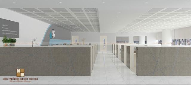 Khu vực làm việc trong thiết kế nội thất văn phòng được thiết kế theo phong cách riêng biệt cùng đẳng cấp sang trọng nhất