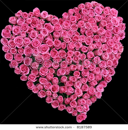 The free images 09 09 11 - Pink roses and hearts wallpaper ...