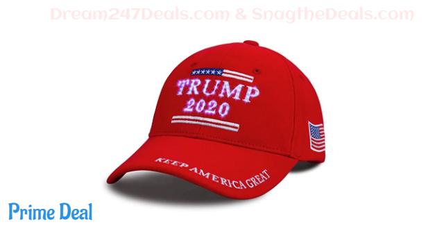 50% OFF LED Keep America Great Trump Adjustable Baseball Hat