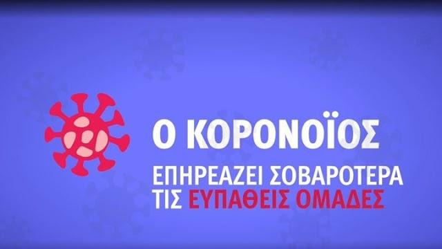 Κορονοϊός: Αυτό είναι το νέο ενημερωτικό σποτ του ΕΟΔΥ (ΒΙΝΤΕΟ)