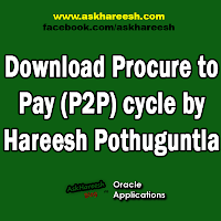 Download Procure to Pay (P2P) cycle by Hareesh Pothuguntla, www.askhareesh.com