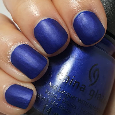 China Glaze Rebel Collection 2016 - Combat Blue-Ts | Kat Stays Polished