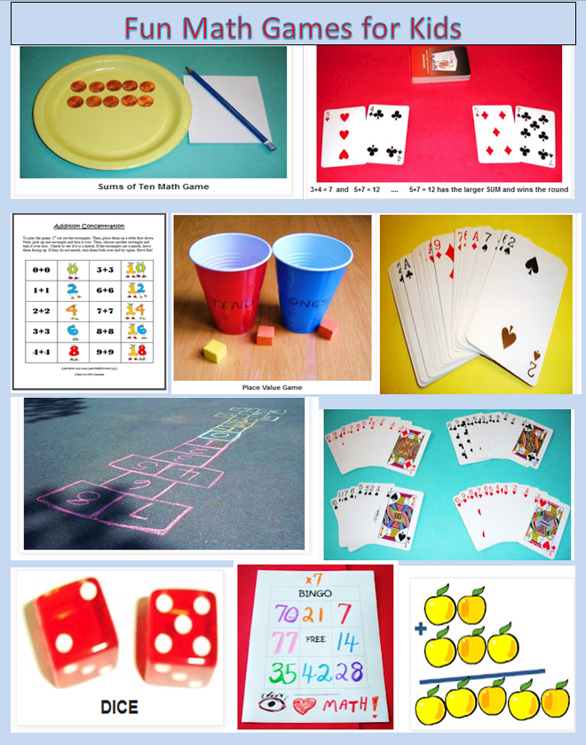 Learning Ideas Grades K 8 Ten Fun Math Games For Kids