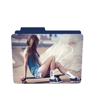Preview of girl, skateboard, photoshoot, folder icon
