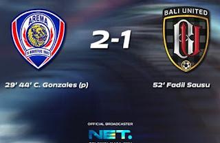 Arema vs Bali United 2-1