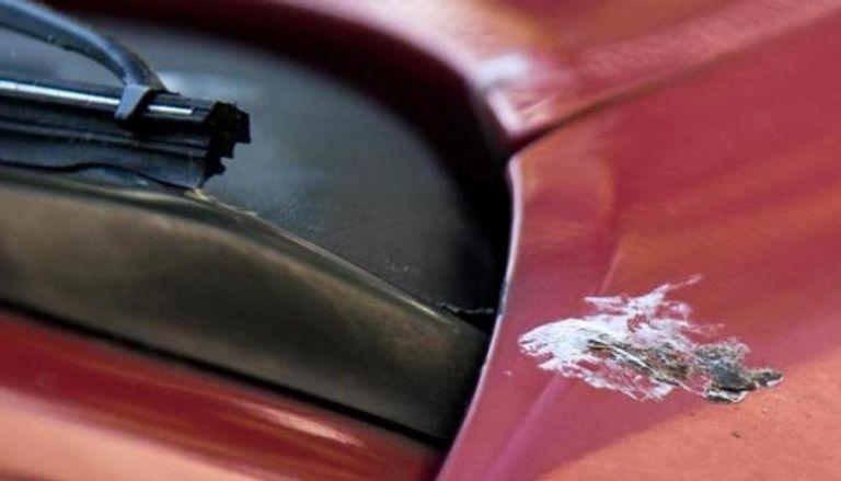 فضلات حشرات على جسم سيارة