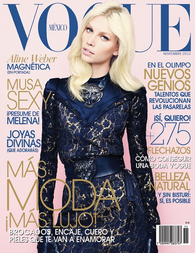 Aline Weber Vogue Mexico November 2012