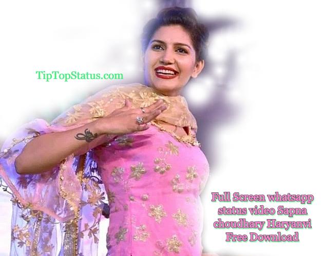 Full Screen whatsapp status video Haryanvi Sapna Choudhary Download Free