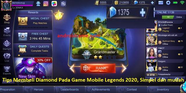 Tips Membeli Diamond Pada Game Mobile Legends 2020, Simpel dan mudah