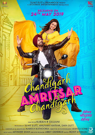 Poster Of Punjabi Movie Chandigarh Amritsar Chandigarh 2019 Full HD Movie Free Download 720P Watch Online