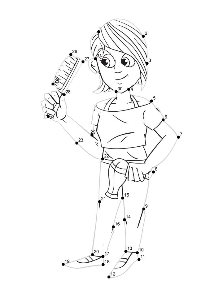 hair dresser dot tracing worksheet