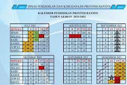 Kalender Pendidikan (Kaldik) 2021/2022 Provinsi Banten (PDF)