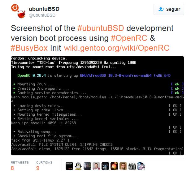 Divulgado detalhes sobre o UbuntuBSD 16.04, confira as novidades!