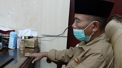 H Mashuri Plt Bupati Merangin Ikuti Vidcom Penyerahan DIPA dan TKDD 2021