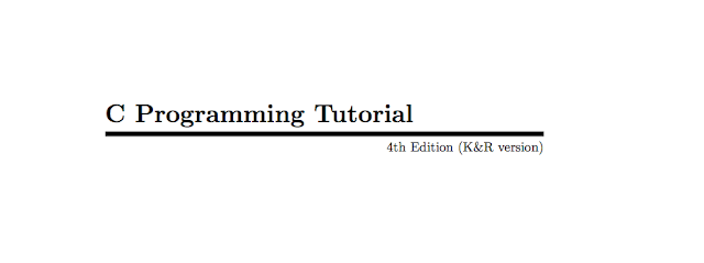 Download C programming Tutorials PDF Free