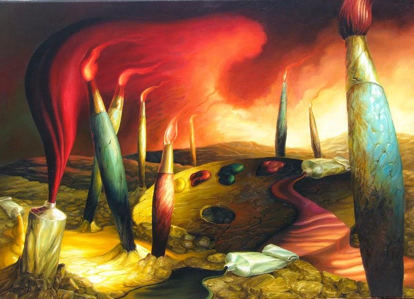 Inspiração l - Ileana Cerato e seu surrealismo nostálgico ~ Pintor argentino