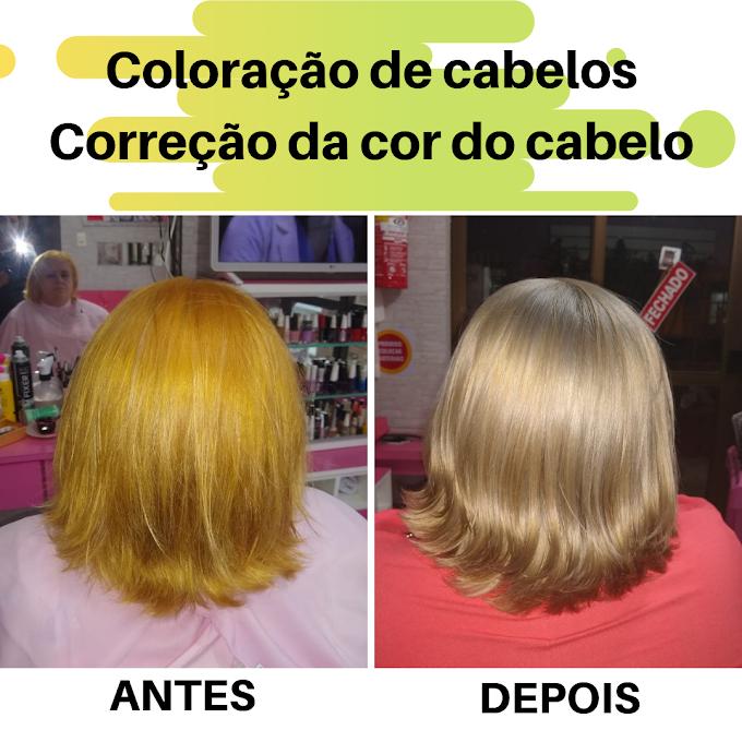 Coloração de cabelos